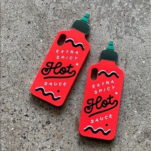 Accessories - Hot 🥵 sauce bottle cute silicone soft phone case